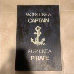 Captain/Pirate wooden decor